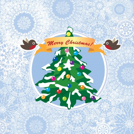 Christmas Greeting Card  Merry Christmas lettering  New Year vector illustration   Vector