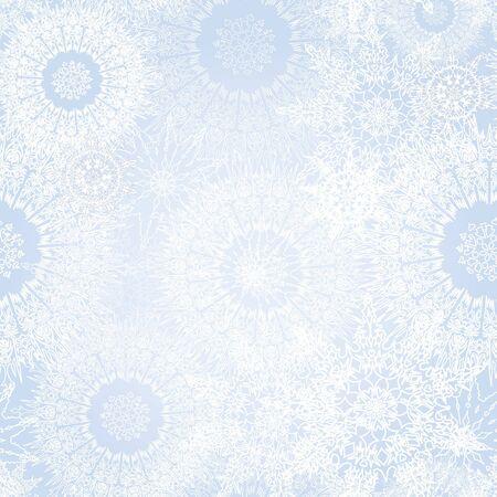 snowflakes seamless vector background  Christmas snow decor Stock Vector - 17271614