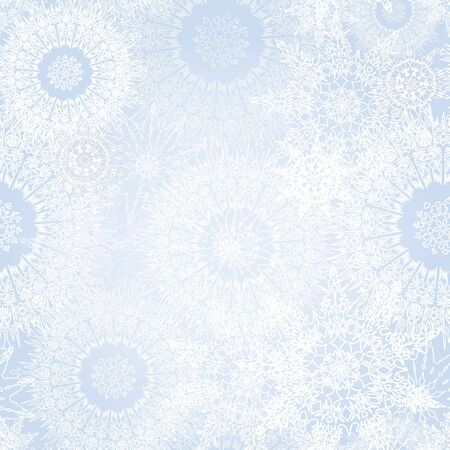 repeate: snowflakes seamless vector background  Christmas snow decor