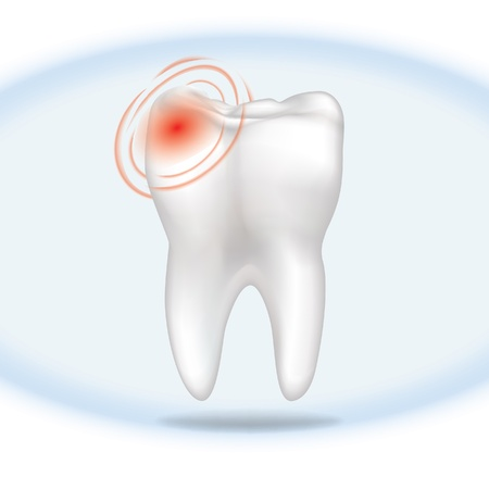 carious: Tooth in pain