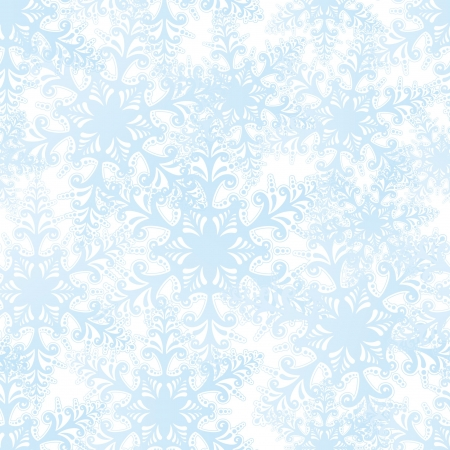 Snowflakes seamless pattern, christmas snow background Stock Vector - 17576377