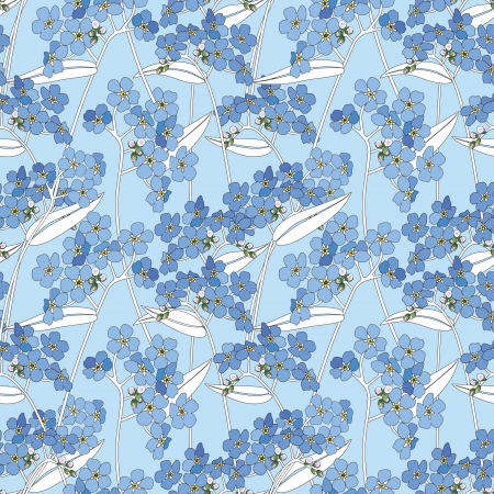 forget me not: abstract floral seamless pattern  gentle flower and leaf background