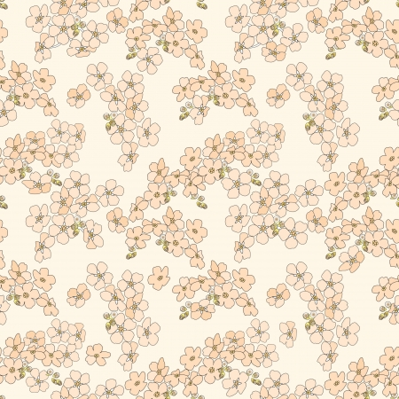 forget: floral seamless pattern  flower forget me not background