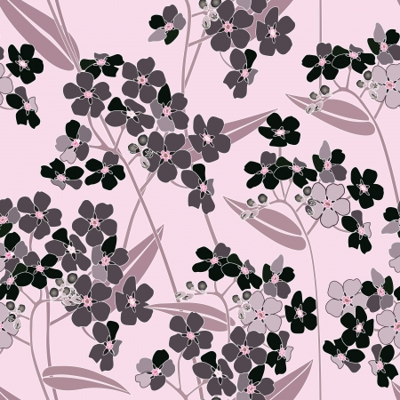 floral seamless background  gentle flower pattern  stylish texture  Vector