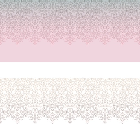 Retro floral lacy seamless border  set in victorian style Stock Vector - 17715806