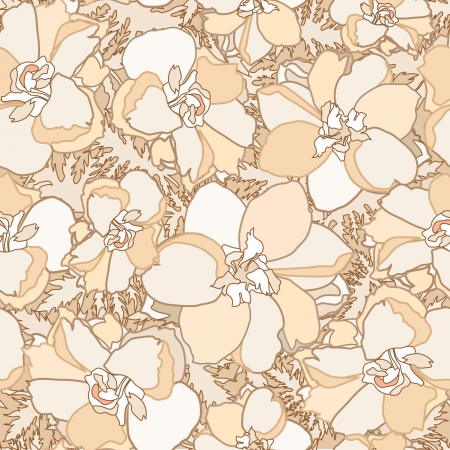 floral seamless background  gentle flower wedding pattern  flowers peony  Vector