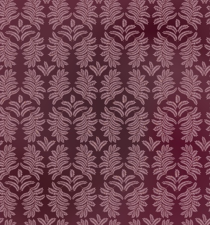 floral texture  leaves seamless pattern on purple background  Vector