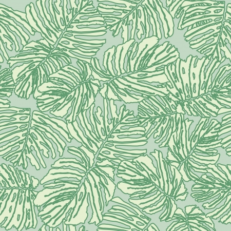 Abstract Floral seamless background  Lacy fern leaves pattern  Vector