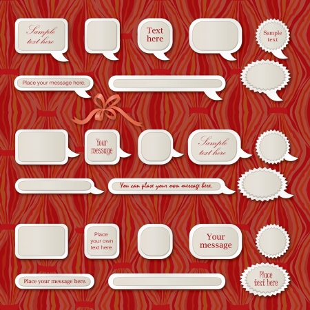 Speech bubbles with calligraphic elements vintage  set  Vector
