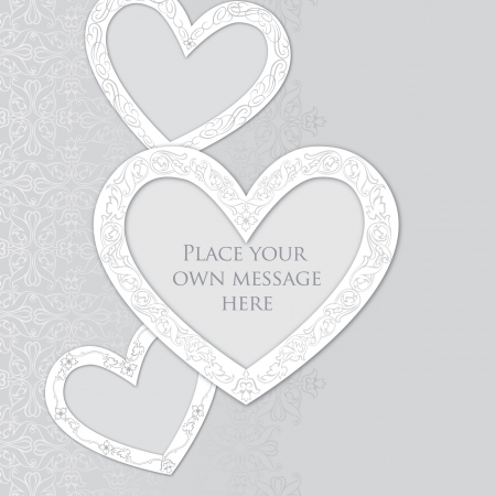 Greeting card in vintage style  Valentine heart label  Love gentle background  Can be used as wedding invitation   Vector