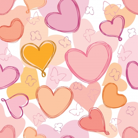 Love hearts Valentin s Day Seamless Pattern  Bright  seamless background Greeting pattern Stock Vector - 17715670