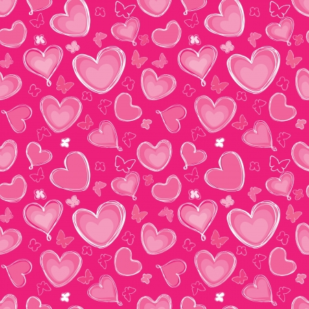 Love hearts Valentin s Day Seamless Pattern  Bright  seamless background  Greeting pattern  Vector