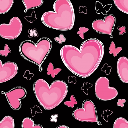Love hearts Valentin s Day Seamless Pattern  Bright seamless background   Greeting pattern  Stock Vector - 17715672