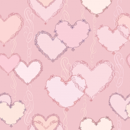 Love heart seamless background  St  Valentin s texture  Party card  Greeting pattern  Stock Vector - 17715752