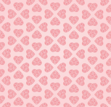Love heart seamless background  St  Valentin s texture  Party card  Greeting pattern Stock Vector - 17715788