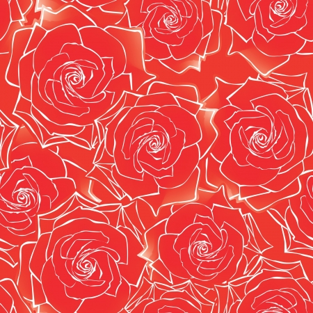 red roses seamless background  floral pattern   Vector