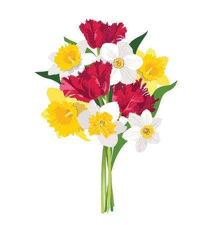 boeket bloemen Vector Illustratie
