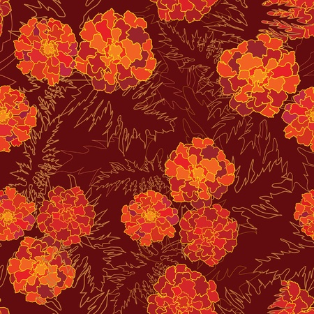abstract floral seamless background  gentle velvet-ribbon pattern  Floral seamless background with red, yellow and purple flowers  Ornate flower texture Stock Vector - 17715737