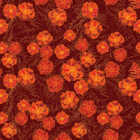 velvet ribbon: abstract floral seamless background  gentle velvet-ribbon pattern  Floral seamless background with red, yellow and purple flowers  Ornate flower texturen