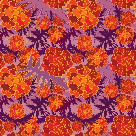abstract floral seamless background  gentle velvet-ribbon pattern  Floral seamless background with red, yellow and purple flowers  Ornate flower texture   Vector