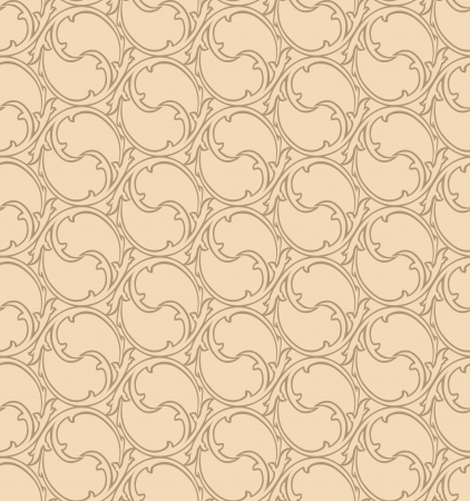 seamless victorian wrapper pattern with lightning ornament  old gold victorian background  Vector