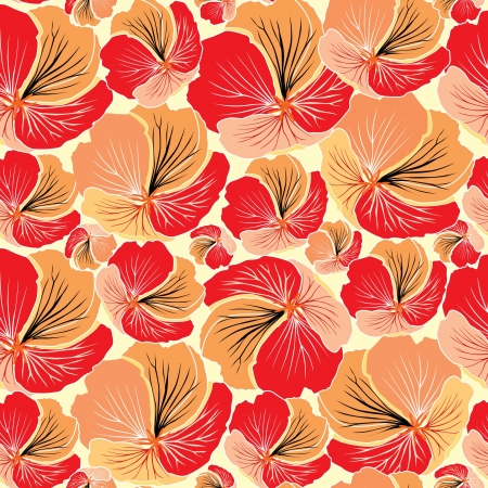 abstract floral seamless pattern  flower seamless background in 1970s style   Vector