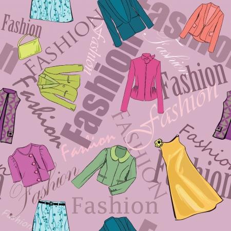 female fashion background Stock Vector - 17715824