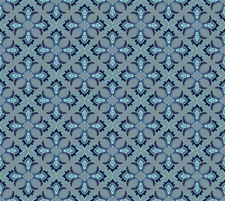 Abstract Floral Seamless  Background Texture  Seamless pattern with lightning ornament on blue background  Stock Vector - 18003732