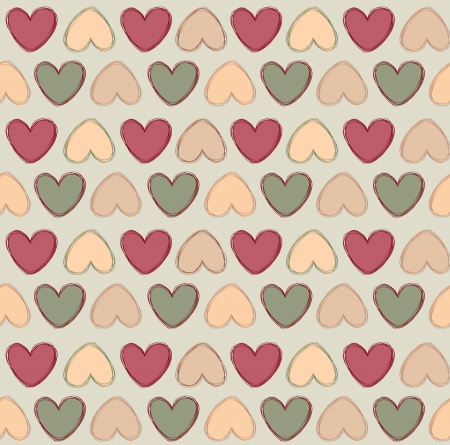 Vintage Hearts  Love hearts Valentin s Day Seamless Pattern  Bright  seamless background Stock Vector - 18003655