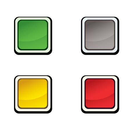 Button set   design elements   Vector