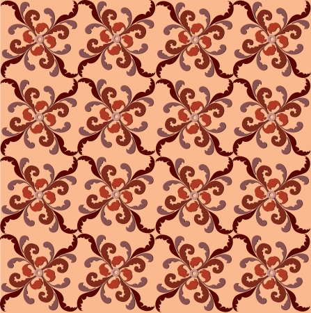 Abstract Floral Seamless  Background Texture  Seamless pattern with lightning ornament on chocolate background  Vector