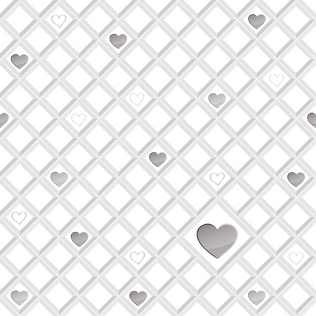 st valentin: Hearts lonely seamless background  St  Valentin s day pattern  Abstract tiles texture