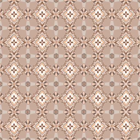 Abstract Floral Seamless Vector Background Texture  Seamless pattern with lightning ornament on beige background  Vector