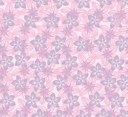 abstract floral seamless texture  lilac and pink flowers pattern  floral seamless background Stock Vector - 18030534