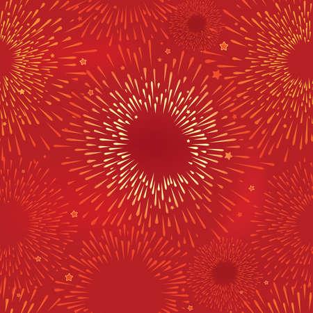 Abstract Firework Seamless  Vector