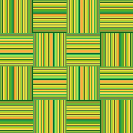 chequered drapery: Yellow tiles texture, seamless vector checkered pattern in 60s style  Fabric background