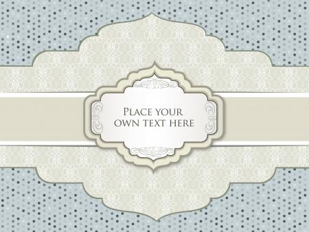 lattice frame: Vintage frame  Floral seamless retro texture  Greeting card  Illustration