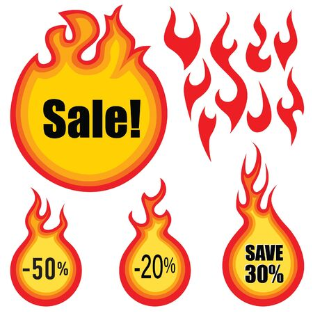 sale label  set  Hot price stickers Stock Vector - 18320740