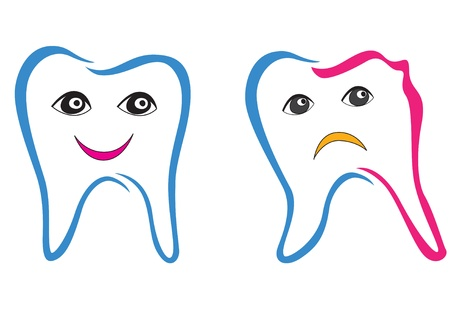 Tooth  set  Stock Vector - 18320725