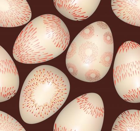 Easter eggs seamless bright spring pattern on dark background