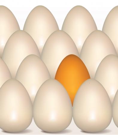consept: Eggs consept seamless border  Golden Egg