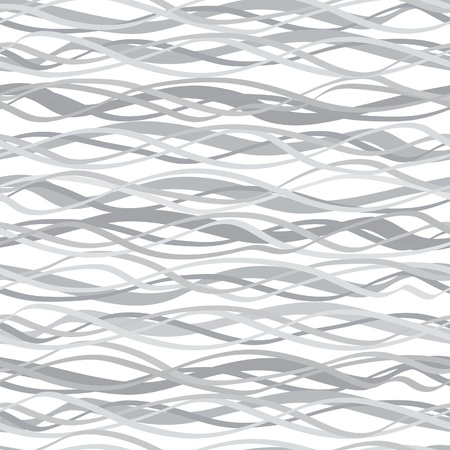 Abstract wavy lined pattern seamless  Marine endless white background Stock Vector - 18394400