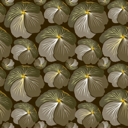 wrapper: abstract floral seamless pattern  flower seamless background in 1970s style