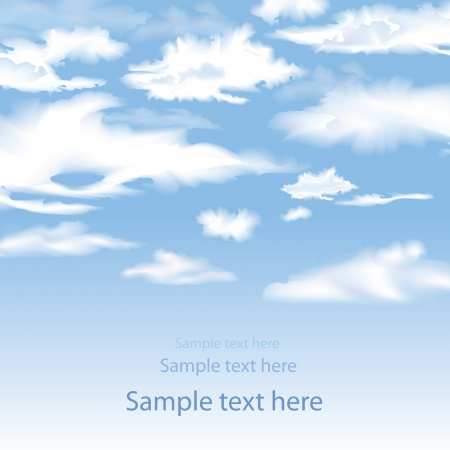 Blue sky with clouds   background   Stock Vector - 18524413