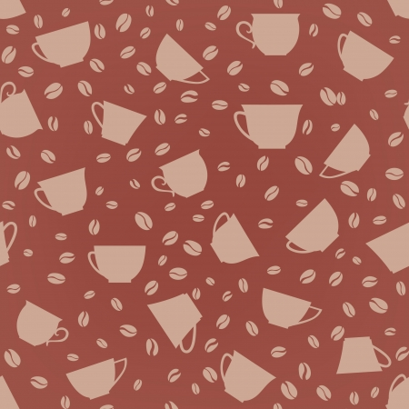 steaming: Coffee seamless background  Coffee cups seamless pattern   Illustration