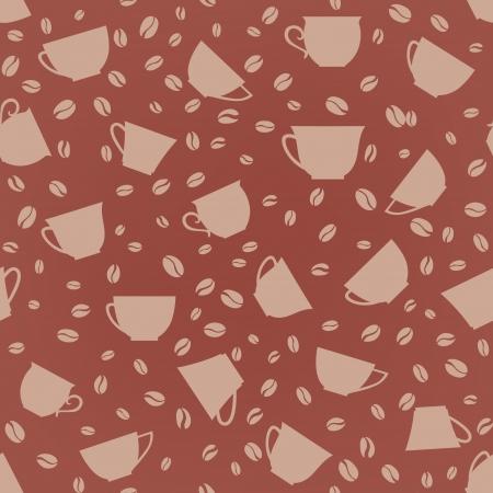 latte art: Coffee seamless background  Coffee cups seamless pattern   Illustration