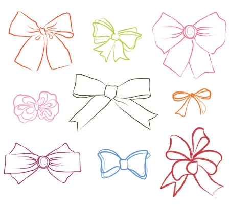 ribbon vector set: Bow ribbon vector set