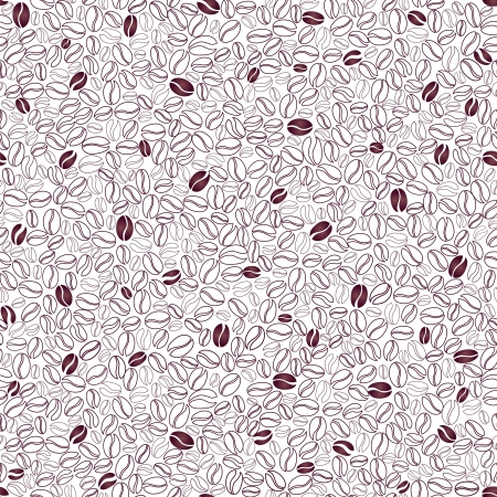Coffee seamless background  Coffee beans seamless pattern Stock Vector - 18870624