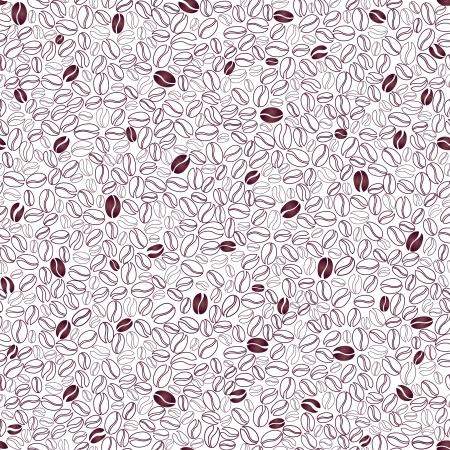 coffee beans: Koffie naadloze achtergrond Koffiebonen naadloze patroon Stock Illustratie
