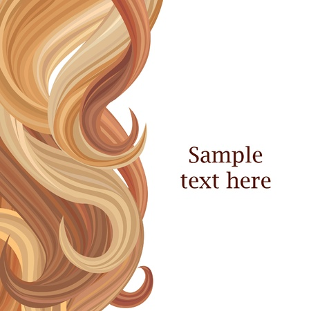 brown hair: Hair background  Hair style poster template  Vector illustration